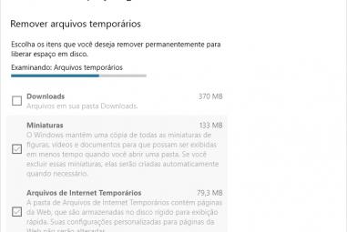 Liberar espaço no Windows 10 com o sensor de armazenamento