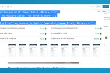 Como remover block library CSS do WordPress