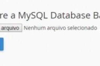 Restaurar Banco de Dados MySQL usando PhpMyAdmin