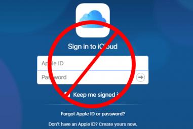 Se não conseguir iniciar sessão em iCloud.com
